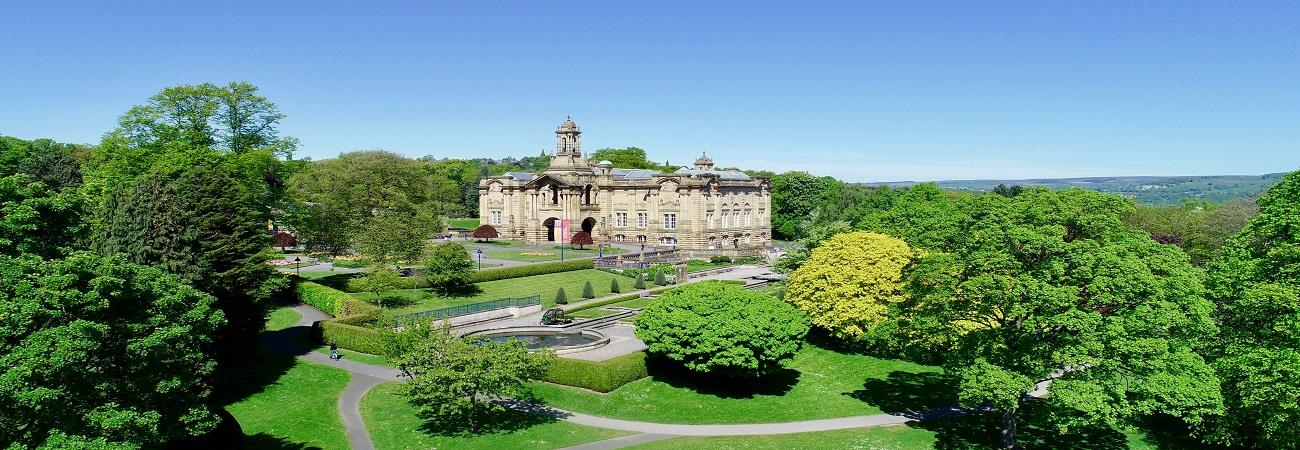 Image: Cartwright Hall, Bradford © Theia Drone Services Ltd.